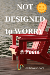 Not Designed to Worry - a Poem