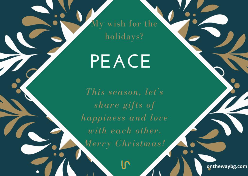 Christmas Card Peace