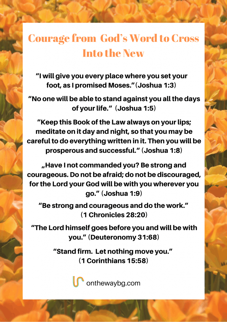 Courage from God's Word to cross into the new