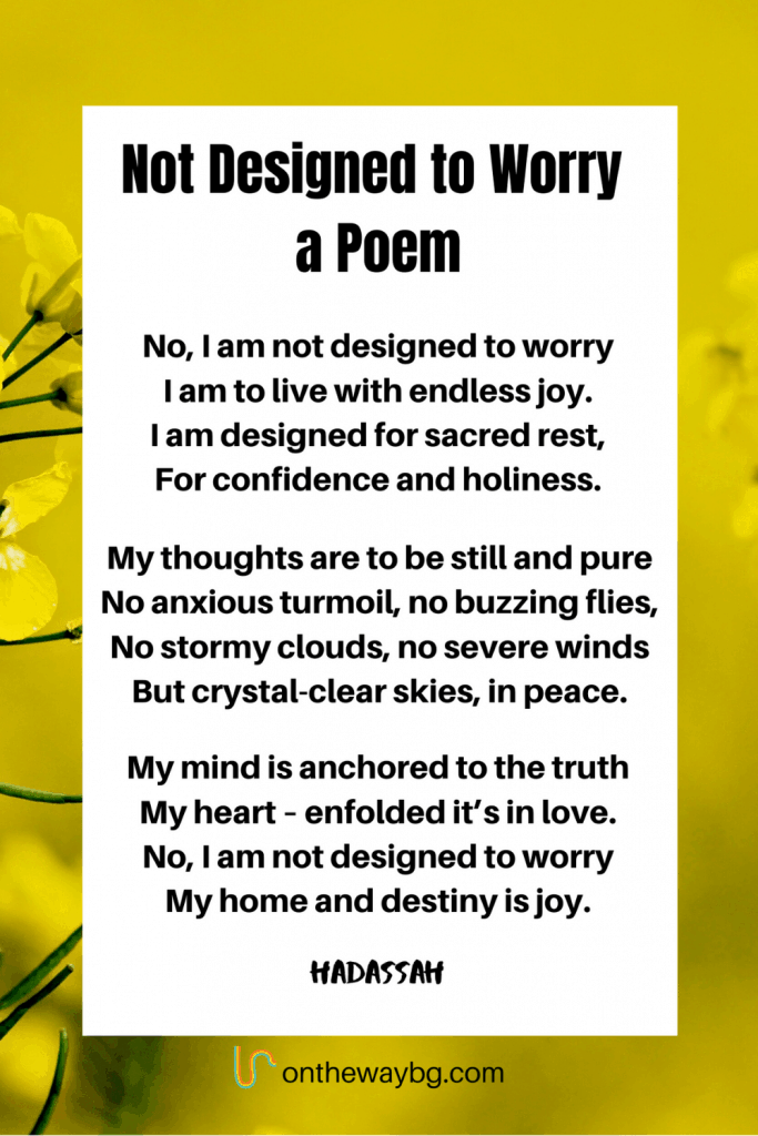 Poem Not Designed To Worry