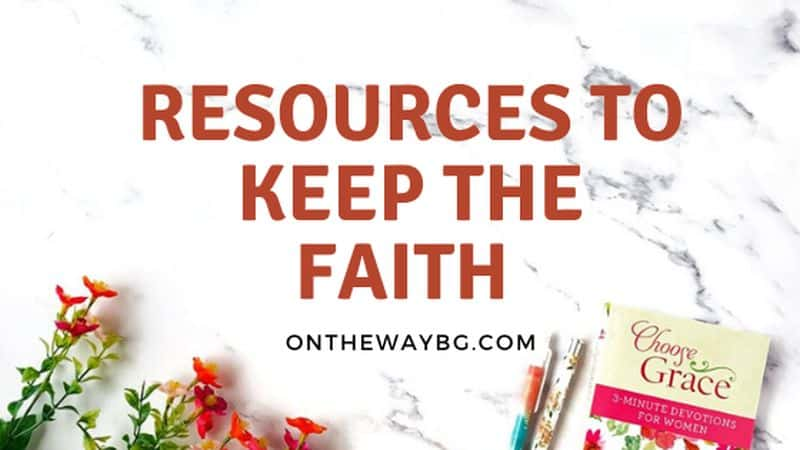resources to keep the faith page banner