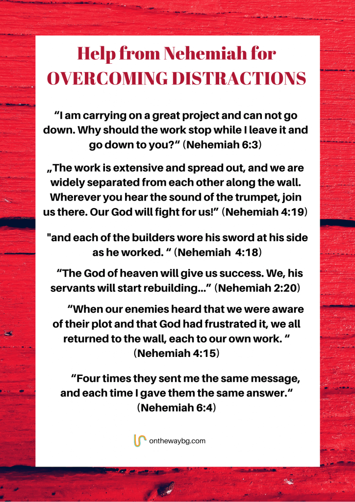 Help for Nehemiah for Overcoming Distractions