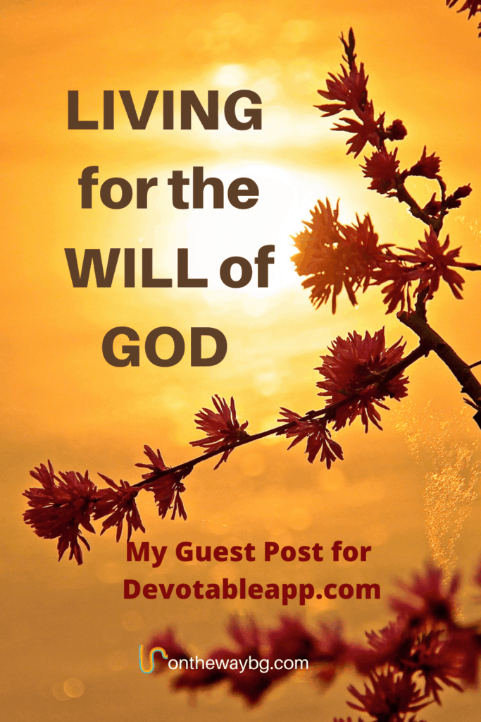 Living for the will of God