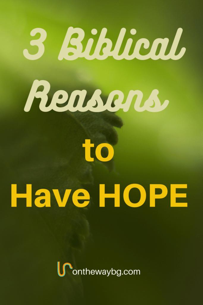 Three Biblical Reasons to Have Hope