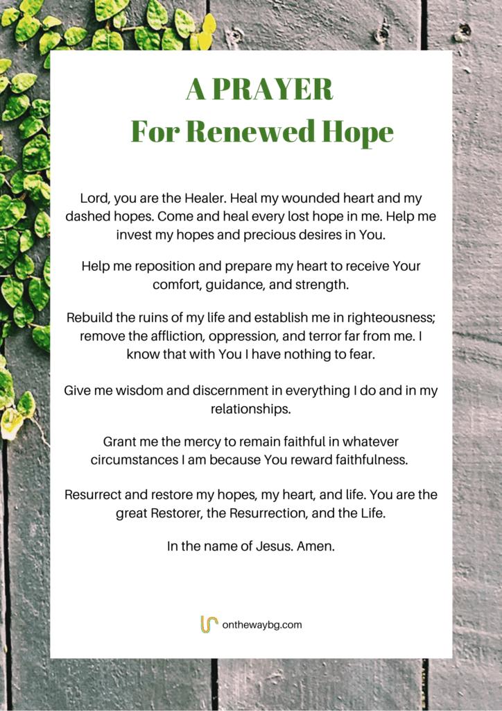 A Prayer for Renewed Hope