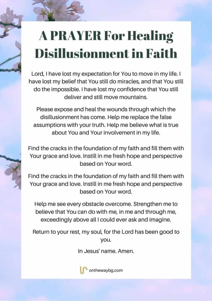 A Prayer for Healing Disillusionment in Faith